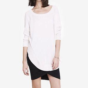 express // white circle hem tunic
